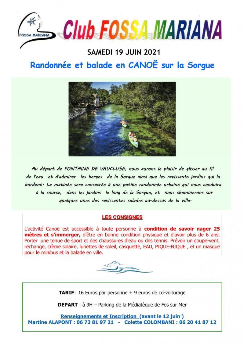 Annonce rando canoe sorgue 1